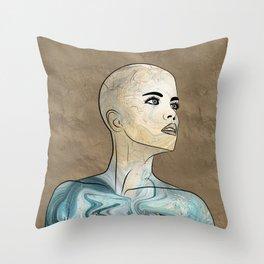 SeaBorn Gold Struck #6 Throw Pillow
