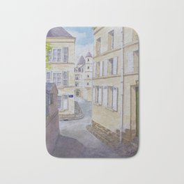 Narrow streets in Chinons old town (France) Bath Mat
