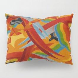 Scarlet Macaws (Parrots) by Giacomo Balla Pillow Sham