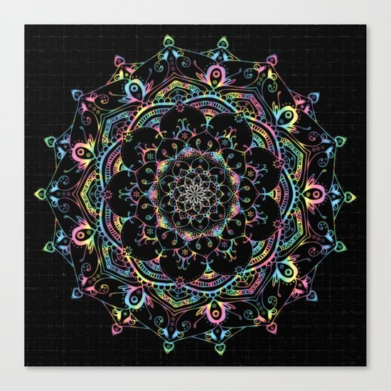 Transcendental Dream Coloured Mandala Design Canvas Print