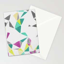 watercolor geometry  Stationery Cards
