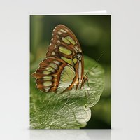 malachite Stationery Cards featuring Malachite Butterfly by Cindi Ressler Photography