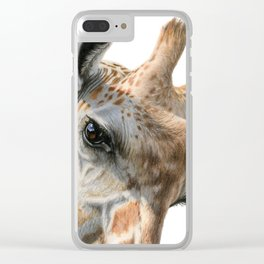 Eye Of The Giraffe Clear iPhone Case