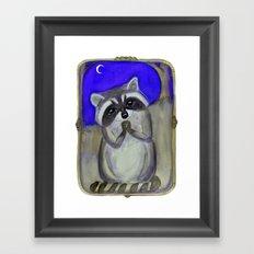 Reginald Raccoon and the Moon Framed Art Print