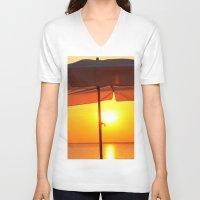twilight V-neck T-shirts featuring TWILIGHT by Ylak
