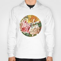 panic at the disco Hoodies featuring Panic! at the disco round vintage flowers by Van de nacht