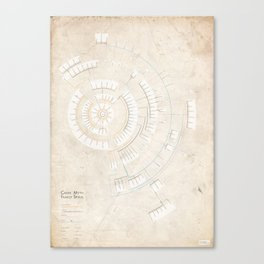 Greek Myth Family Spiral (INFOGRAPHIC) Canvas Print