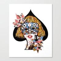 poker Canvas Prints featuring Poker Face by Enkel Dika