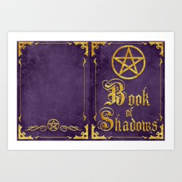 Purple Book of Shadows Art Print