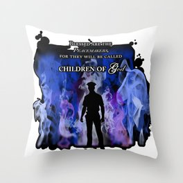 Police Tribute Throw Pillow
