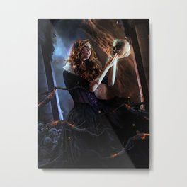 Black Widow Cordelia Metal Print