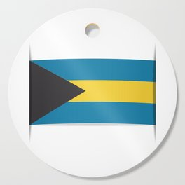 Flag of Bahamas. The slit in the paper with shadows. Cutting Board