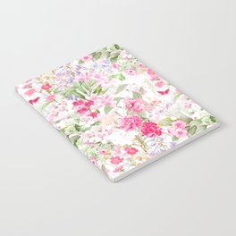 Vintage & Shabby Chic - Pastel Spring Flower Medow Notebook