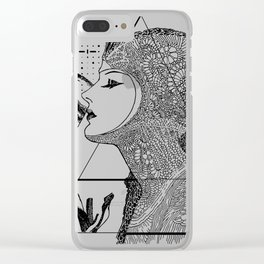 Art Nouveau - the Flower Clear iPhone Case