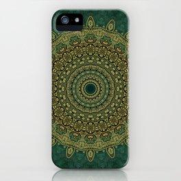 Golden Circle Mandala iPhone Case