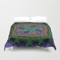 rug Duvet Covers featuring Fractal Rug by Warwick Wonder Works