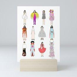 Outfits of Bjork Fashion Mini Art Print