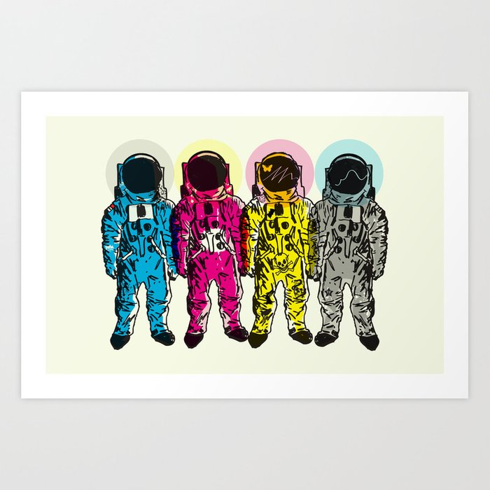 CMYK Spacemen Art Print