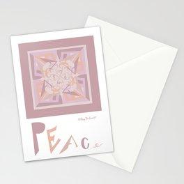 Peace is Soft Mandala Stationery Cards