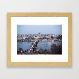 Budapest city Framed Art Print