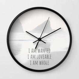 I WANTED, LOVABLE & WHOLE. Wall Clock