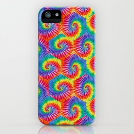 Tie-Dye Hexagon Colorful Pattern iPhone Case