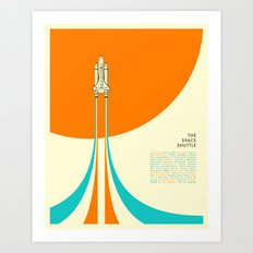 THE SPACE SHUTTLE Art Print