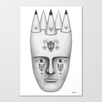 skulls Canvas Prints featuring Skulls by Lou Patrou