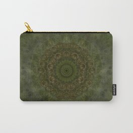 """Autumn mandala"" (Green-Grey Pattern) Carry-All Pouch"