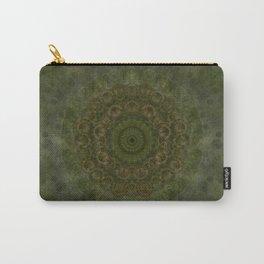 """Autumn mandala"" (Green-Grey Pattern) Carry-All Pouch"