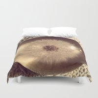 beth hoeckel Duvet Covers featuring Dandelion II by Beth Ann Short by Beth Ann Short