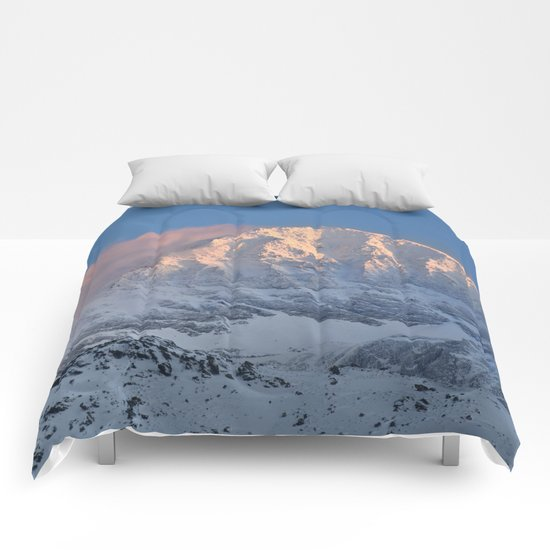 Mulhacen 3479 meters at sunset Comforters