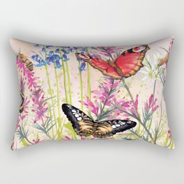 Wild meadow butterflies Rectangular Pillow