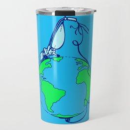 Help (blue) Travel Mug
