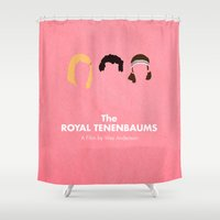 royal tenenbaums Shower Curtains featuring The Royal Tenenbaums by Chay Lazaro