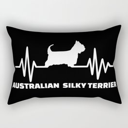 Australian Silky Terrier heartbeat Rectangular Pillow