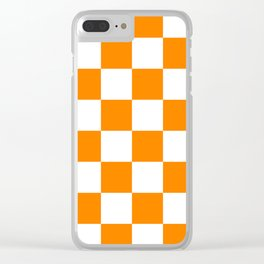 Orange and White Clear iPhone Case