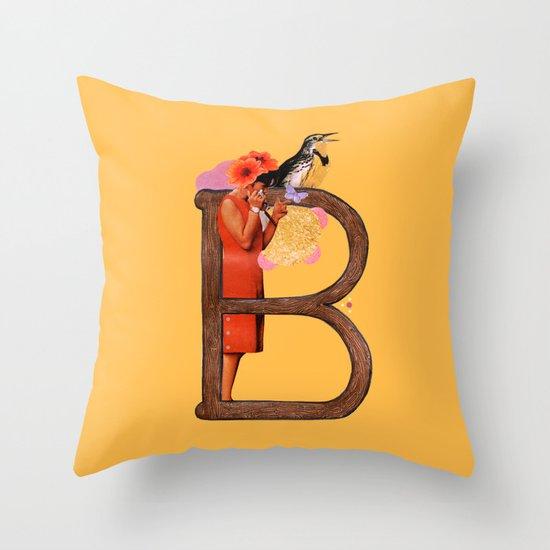 "A TO Z - ""B"" Throw Pillow"