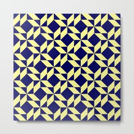 Abstract Shape Pattern Design Metal Print