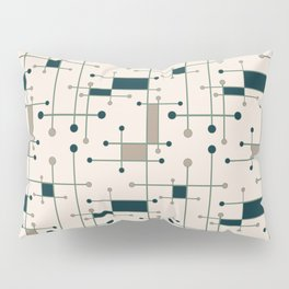 Intersecting Lines in Dark Teal, Tan and Navy Pillow Sham