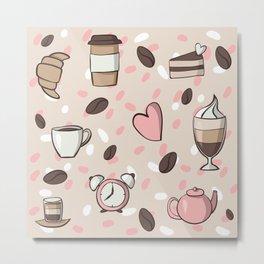 Morning Coffee Love Metal Print