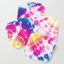 Tie-Dye Sunburst Rainbow Coaster