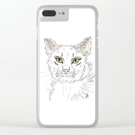Anger cat lady Clear iPhone Case