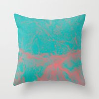 underwater Throw Pillows featuring underwater by JG-DESIGN