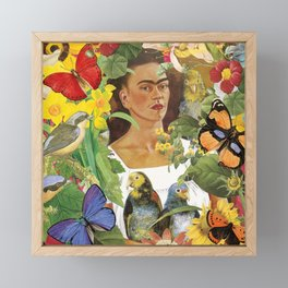Frida Kahlo Collage Framed Mini Art Print