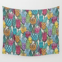 tulips Wall Tapestries featuring tulips by Sharon Turner