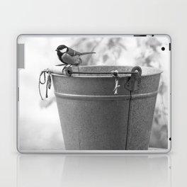 Songbird (Great Tit) on Autumn Day Black and White #decor #society6 #buyart Laptop & iPad Skin
