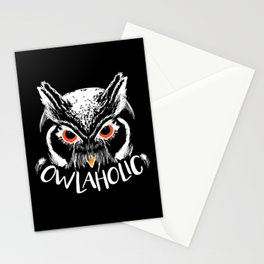 Owlaholic, Owl & Owls Fan Gift Stationery Cards