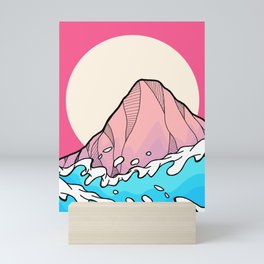 Sea wave hill Mini Art Print