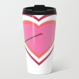 Happy Valentine's Day Metal Travel Mug